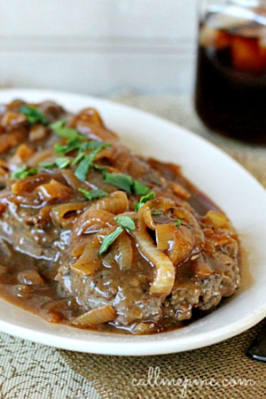 Hamburger Steak with Onions and Gravy – All Global Recipes